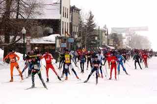 CB Nordic's Alley Loop start. Feb 7th, 2015