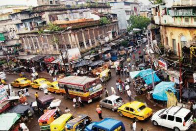 Calcutta, India. I don't see many bikes.