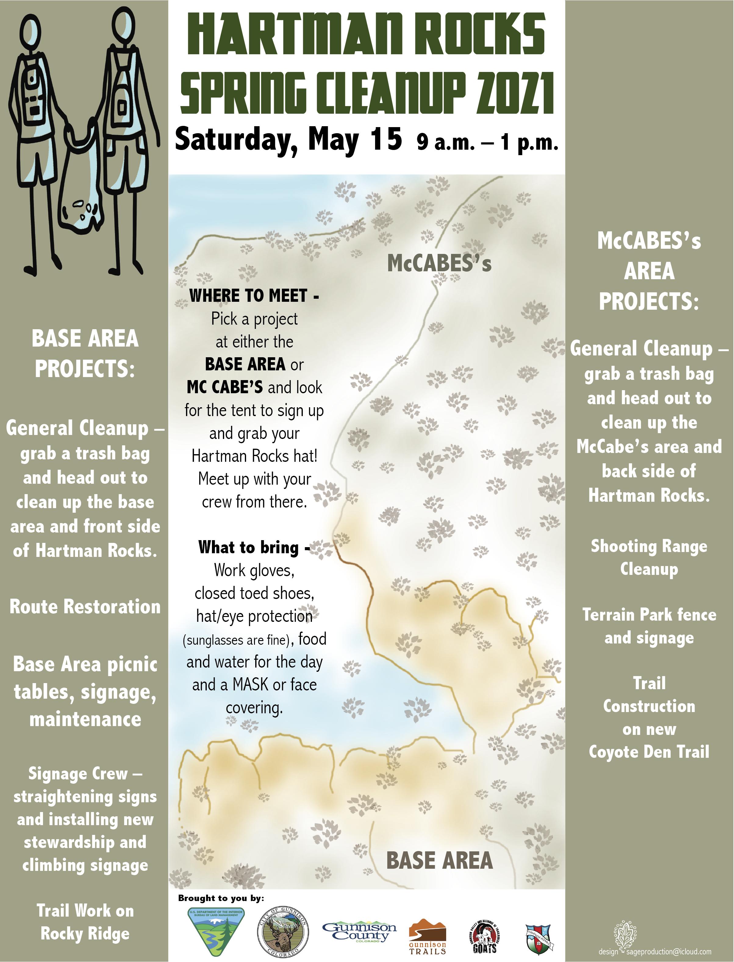 Hartman Rocks Spring Cleanup – May 15