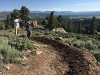 Gunnison Trails' Youth Crew keeping the berms on Top of the World nice and manicured!