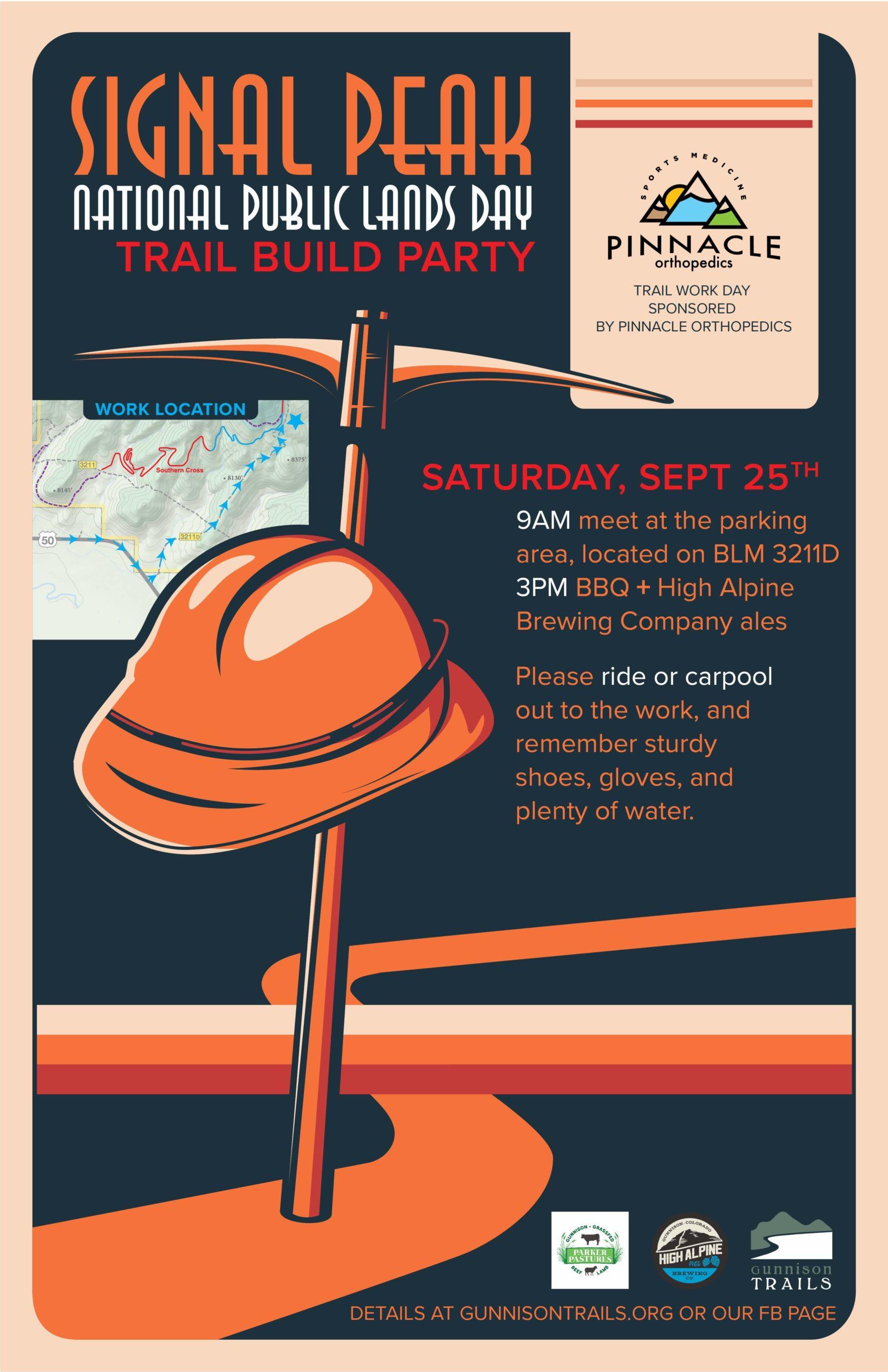 Signal Peak Fall Workday – Saturday, Sept. 25